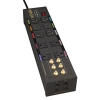TrippLite 10-Outlets Isobar Home/Business Theater Surge Suppressor with 8 ft Cord