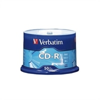 CD-R, 700MB, 52X, Verbatim (50-Pack Spindle)