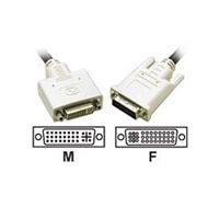 C2G 3m DVI-I M/F Dual Link Digital/Analog Video Extension Cable (9.8ft) - DVI extension cable - 10 ft