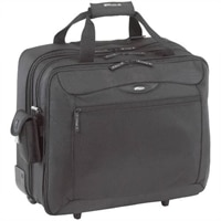 "Rolling Travel Laptop Case - Fits Laptops with Screen Size Up to 17"" - Black"