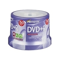 4.7 GB DVD+R Media - 50 Pack