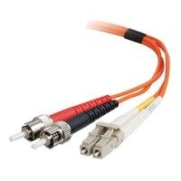 CABLESTOGO C2G LC-ST 62.5/125 OM1 Duplex Multimode PVC Fiber Optic Cable - patch cable - 10 ft
