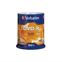 4.7 GB 16X  Branded DVD-R Spindle - 100-Pack