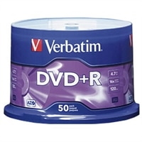 4.7 GB 16X Branded DVD+R Spindle - 50-Pack