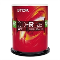 700 MB 52X CD-R Storage Media – 100 Pack
