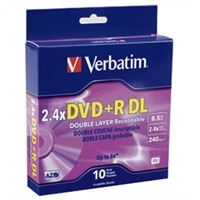 8.5 GB DVD+R Double Layer Discs 2.4X-8X - 10-Pack Spindle