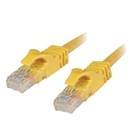 RJ-45 CAT6 550 MHz Snagless Yellow Patch Cable - 10 ft