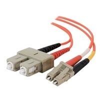 CABLESTOGO C2G LC-SC 62.5/125 OM1 Duplex Multimode PVC Fiber Optic Cable - patch cable - 3.3 ft