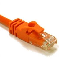 CAT6 550 MHz RJ-45 Snagless Orange Patch Cable - 5 ft