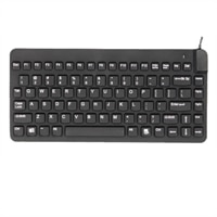 Slim Cool Washable Sealed Waterproof Keyboard - Black