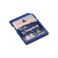 8 GB MicroSDHC Class 4 High Capacity Micro Secure Digital Flash Memory Card