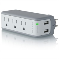 BELKIN COMPONENTS Belkin Inc Mini Surge Protector with USB Charger