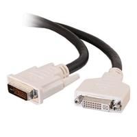 CABLESTOGO C2G - DVI extension cable - DVI-I (M) - DVI-I (F) - 6.6 ft - black