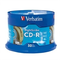 700 MB 52X LightScribe CD-R Spindle - 50 Pack