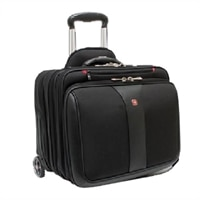 Swiss Gear Patriot Wheeled Computer 2-Piece Business Set - Roller Fits Laptops with Screen Sizes up to 17-inch and Laptop Case Fits up to 15.6-inch - Black