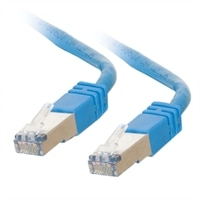 CablesToGo RJ45 Cat6 Molded Shielded Blue Patch Cable - 25 ft