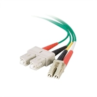 C2G OM1 LC/SC Duplex 62.5/125 Multimode Fiber Optic Patch Cable - patch cable - 3.3 ft - green