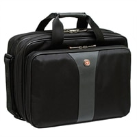 Swiss Gear LEGACY Checkpoint Friendly Double Gusset Computer Case - Fits Laptops with Screen Sizes Up to 15.6-inch - Black