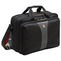 Swiss Gear LEGACY Checkpoint Friendly Triple Gusset Computer Case - Fits Laptops with Screen Sizes Up to 15.6-inch - Black