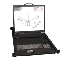 16-Port NetCommander™ Rack Console IP Cat5 KVM with 19 in LCD-Requires B078-101-Series Interface Modules PS/2 or USB