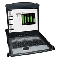 TrippLite 8-Port NetDirector 1U Rackmount Console KVM Switch with 19-inch LCD and 8 PS2/USB Combo Cables