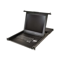 1U 17IN LCD CONSOLE W/USB TOUCHPAD KEYB/PRE-MOUNTED AV3008