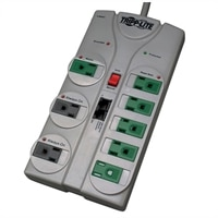 TrippLite 8-Outlet Eco Energy-Saving Surge Suppressor with Netbook Switch