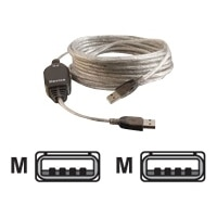 CABLESTOGO C2G USB 2.0 A Male to A Male Active Extension Cable - USB cable - 16.4 ft
