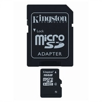 16 GB Class 4 MicroSDHC Flash Memory Card