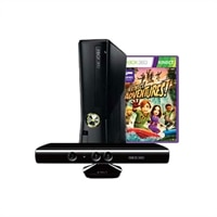 Xbox 360 4 GB Console with Kinect Sensor and Kinect Adventures Game Bundle
