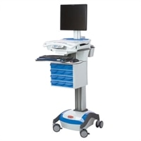 Rubbermaid Medical Solutions 40-AMP Lithium Battery AC Computer Cart