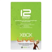 1-Year Xbox 360 Live Gold Subscription