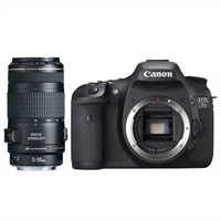 Canon EOS 7D Black 18 MP Digital SLR Camera with EF 70-300 mm f/4-5.6 IS USM Telephoto Lens