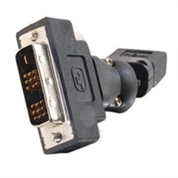 CABLESTOGO C2G - Rotating adapter - single link - HDMI / DVI - DVI-D (M) - 19 pin HDMI (F) - black