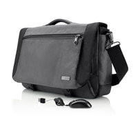 Belkin Halo Messenger Laptop Case with Retractable USB Travel Mouse Bundle