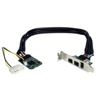 3 Port 1394 Mini PCI Express FireWire Card Adapter