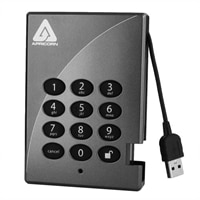 Apricorn 1 TB Aegis Padlock 128-bit AES Encrypted USB 2.0 Hard Drive with PIN Access