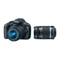 EOS Rebel T3 18-55 mm IS II Digital SLR Camera Kit with EF-S 55-250mm f/4-5.6 IS Telephoto Zoom Lens Bundle
