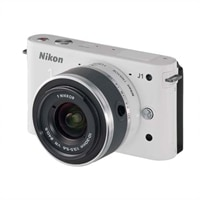 J1 White 10.1MP Compact Interchangeable Lens Digital Camera with 10-30mm Nikkor Lens