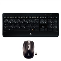 Logitech K800 Wireless Illuminated Keyboard with MX Anywhere Mouse