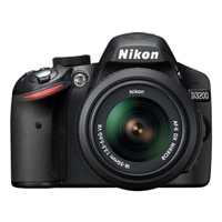 Nikon D3200 Black 24.2 MP Digital SLR Camera (with 18 - 55 mm Zoom Lens)