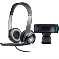 Logitech B910 HD Webcam with B530 USB Headset