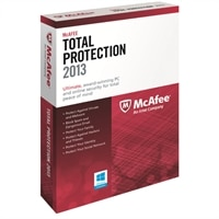 McAfee Total Protection 2013 - Subscription package ( 1 year ) - 3 PCs ( mini-box ) - Win - English