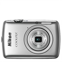 Nikon Coolpix S01 Silver 10.1 MP 3x Zoom Ultra Compact Digital Camera