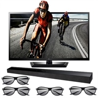 LG 47-inch LED LCD TV - 47LM4700 1080p 120Hz Cinema 3D HDTV with Sound Bar and Four Pairs of 3D Glasses