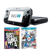 Nintendo Wii U Deluxe Set Game Console with Just Dance 4 and Madden NFL 13 Now Available For Wii U