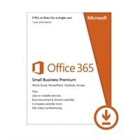 Microsoft Corporation Download - Microsoft Office365 Small Business Premium 5 PCs for A Single User 1YR