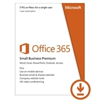 Microsoft Corporation Download - Microsoft Office 365 Small Business Premium 5 PCs for A Single User 1YR
