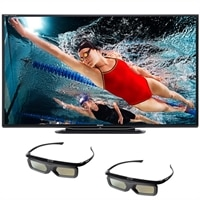 Sharp 60-inch LED Smart TV - LC-60LE757U 3D HDTV with Two Pairs of 3D Active Glasses