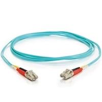 CABLESTOGO C2G 1m LC-LC 10 GB 50/125 OM3 Duplex Multimode Fiber Optic Cable (TAA Compliant) - Aqua